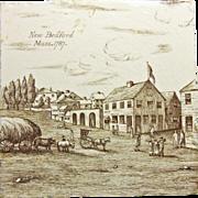 Minton New Bedford Mass 1787 Transferware Tile