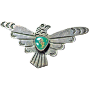 1930s Sterling Silver Eagle Pin