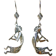 Sterling Silver Kokopelli Earrings
