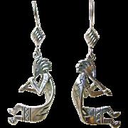 Sterling Silver Kokopelli Earrings