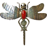 Sterling Silver Dragon Fly Brooch by Frank Yazzie