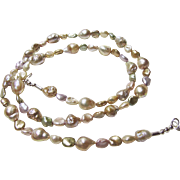 Necklace of Baroque Mixed Freshwater Pearls