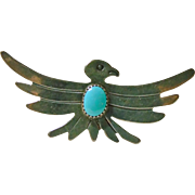 Vintage Southwestern Sterling Eagle Pin
