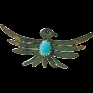 Vintage Southwestern Sterling Eagle Pin