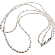 Double Strand Freshwater Potato Shape Pearls