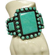 Outstanding Turquoise Cuff Bracelet by Kirk Smith