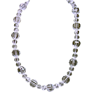 Natural Faceted Rock Crystal Necklace