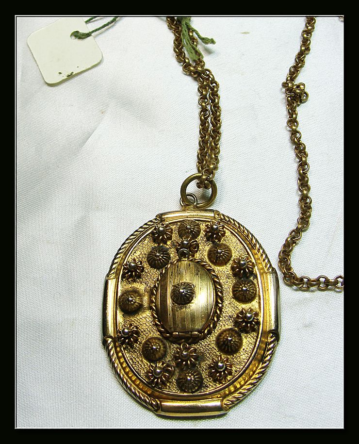 1950s Locket Pendant and Chain