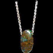 Boulder Matrix Opal In Sterling Silver Chain