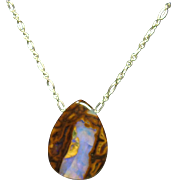 Top PIcture Pattern Australian Boulder on Sterling Silver Chain
