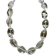 Clear as Water Natural Rock Crystal Nugget Necklace