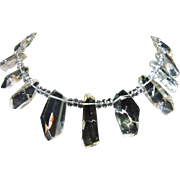 Necklace of Rock Crystal Faceted Points