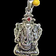 Hindu God Ganesha Sterling Silver Charm