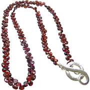 Red Garnet Pave Necklace