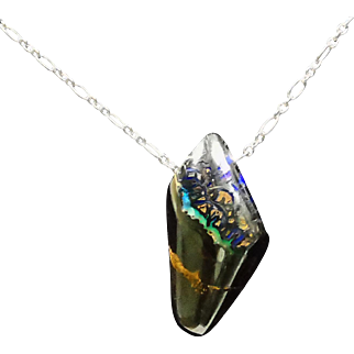 Australian KOROIT Boulder Opal on Sterling Silver Chain