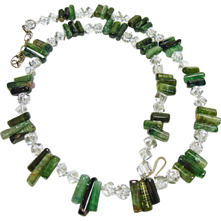 Tourmaline and Rock Crystal Necklace