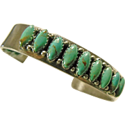 Sterling Silver and Turquoise Narrow Cuff Bracelet
