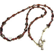 Brilliant Red Garnet Necklace