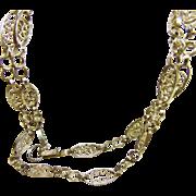 Handmade Silver Filigree 29 Inch Chain