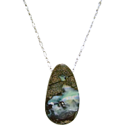 Australian Boulder Opal on Sterling Silver Chain