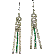 1920's Deco Paste Drop Style Earrings