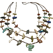 3 Strand Zuni Fetish Necklace