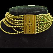 12 Strand Brass Bead Necklace