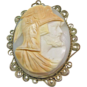 1930s 4 Color Shell Cameo of Ajax