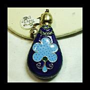 Cloisonne Enamel Perfume Flask Pendant
