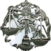 Sterling Silver Libra  Broach by Sellon
