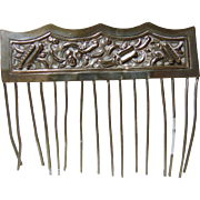Sterling Vintage Hair Comb
