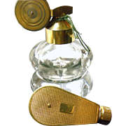"Week-end"" by Marcel Franck, Gold  Tone Art Deco Purse / Travel Perfume Atomizer and  Marcel Franck Double Round Atomizer"