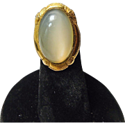 10k Cats Eye Moonstone Ring