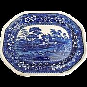 Vintage Blue Copeland Spode Tower Large Platter