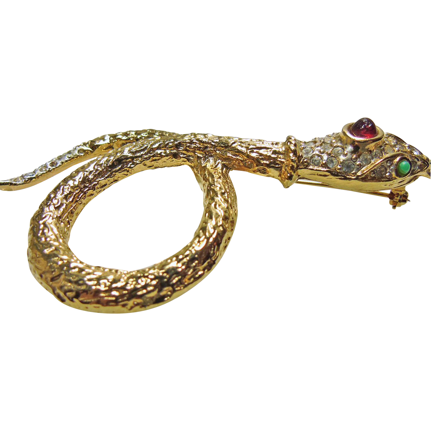 Snake Gold Metal Brooch