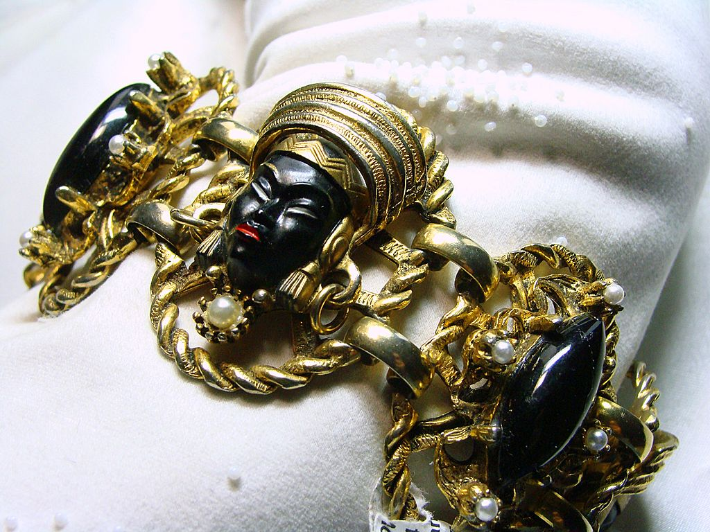 1950's Nubian Princess or Blackamoor Bracelet