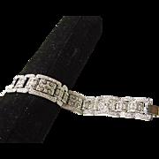 Fabulous White Rhinestone Pave Set Bracelet