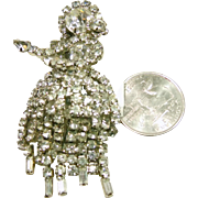 White Rhinestone Hula Dancer