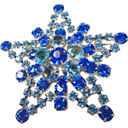 Juliana Star Brooch in Shades of Blue