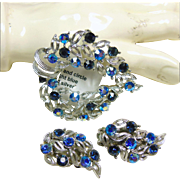 Lisner Brooch and Matching Earrings
