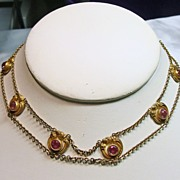 Vintage 'Dog Collar' Style Gold over Brass Necklace