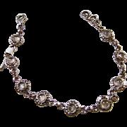 Moonstone and Sterling Silver Bracelet