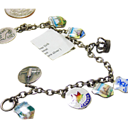 Charm Bracelet with Enamel Travel Charms
