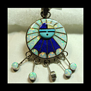 Amy Quandelacy Sunface Pendant in Sterling Silver