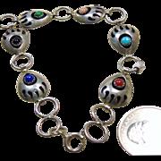 Bear Paw Sterling Silver Link Bracelet