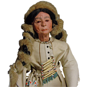 Handmade Artist Doll of Native American Indian Chief Sitting Bull