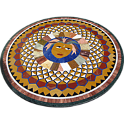 Pietra Dura Round Table Top