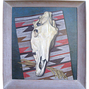 Large oil on Canvas ELMER LAKATOS Western Still Life