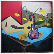 Mid- Century Still Life by Pulera dated 1959
