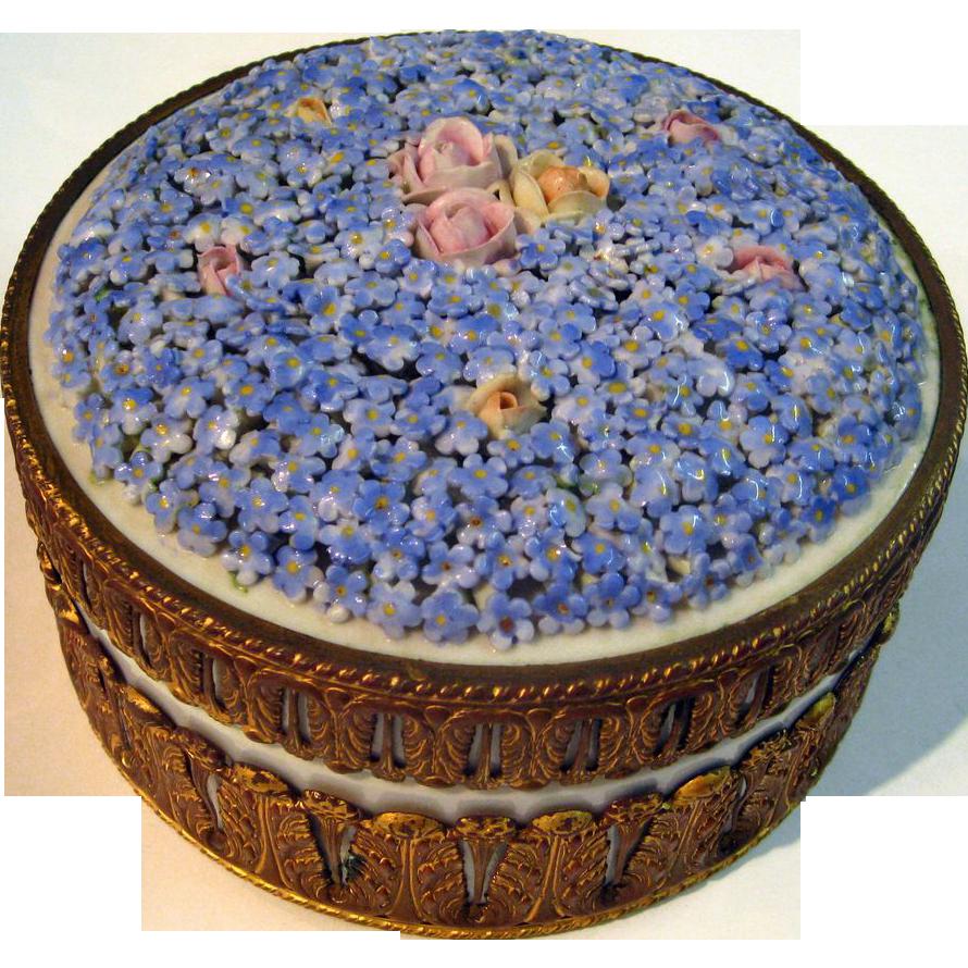 Dresden Porcelain Dresser Box